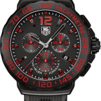 TAG Heuer FORMULA 1 200M CHRONOGRAPH BLACK DIAL,RUBBER STRAP