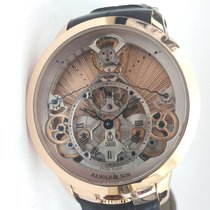 Arnold & Son Time Pyramid Guilloché pink gold