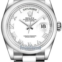 Ρολεξ (Rolex) Day-Date 36mm Platinum Domed Bezel 118206 White...