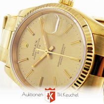 Rolex Oyster Date 34 mm Solid Gold 750 Ref. 15238 Box + Anl. 1994