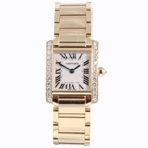 Cartier Diamond Set Tank Francaise in 18ct yellow gold
