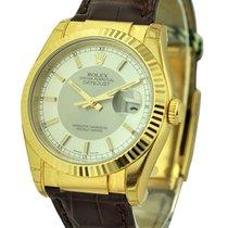 Rolex Unworn 116138_silve_stick Yellow Gold Datejust with...