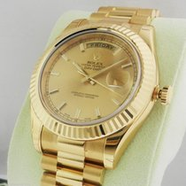 Rolex Day-Date II President  41mm 218238 Champagne Index Dial