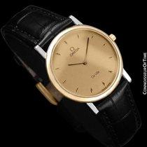 Omega De Ville Mens Midsize Dress Watch - Solid 18K Gold and...