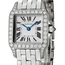 Cartier Santos Demoiselle 18kt White Gold Diamond Women Watch...