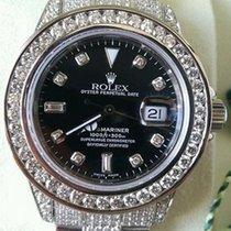 Rolex Submariner Stainless Steel Diamonds Everywhere Black...