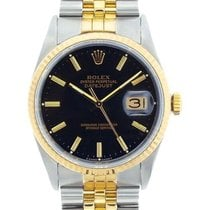 Rolex Datejust Men's 36mm Black Dial Gold And Stainless...