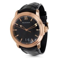 Blancpain Leman Big Date 2850A Men's Watch in 18K Rose Gold