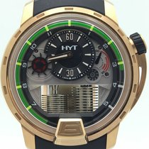 HYT H1 18k Rose Gold Serial No. 1 Power Reserve 148-pg-22-gf-c...