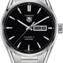 TAG Heuer Carrera Calibre 5 Day-Date Steel Case Data WAR201ABA...