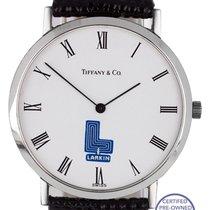 Tiffany & Co. Classic Stainless Steel White 'Larkin' Black...