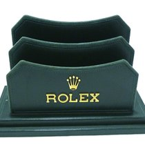 Rolex Vintage Green Leather  Display Stand Magazine Catalog...