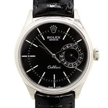 ロレックス (Rolex) Cellini Series 18k White Gold Black Automatic...