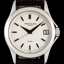 Patek Philippe 18k W/G Tiffany & Co Double Name Calatrava...