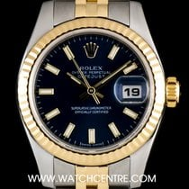 Rolex Steel & Gold O/P Blue Baton Dial Datejust Ladies...