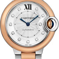 Cartier Ballon Bleu 18k Rose Gold And Steel Silver Automatic