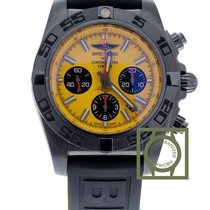 Breitling Chronomat 44 BlackSteel Special Edition Yellow Dial NEW