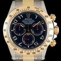 Rolex Steel & Gold Blue Arabic Dial Cosmograph Daytona 116523
