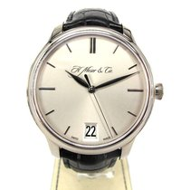 H.Moser & Cie. Monard Date 18K White Gold Rhodie Dial