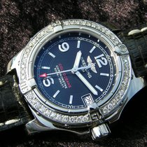 Breitling Colt Oceane Lady A77380 Black Dial Steel Diamonds...