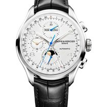Baume & Mercier M0A10278 Clifton Chronograph in Steel - on...