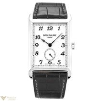 Patek Philippe Gondolo White Gold Black Leather Men's Watch