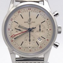 Breitling Transocean Gmt Limited Edition 2000pcs White Dial...