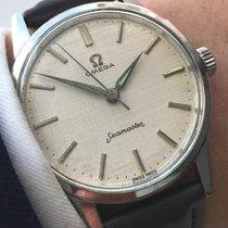 Omega Perfekte  Omega Seamaster Uhr mit Leinenziffernblatt 35mm