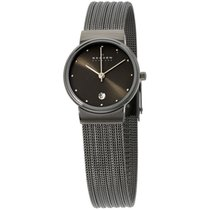 Skagen Denmark Black Dial Stainless Steel Case Ladies Watch...