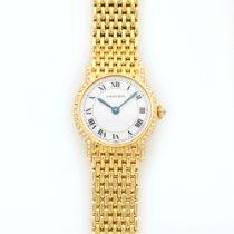 까르띠에 (Cartier) Yellow Gold Round Diamond Bracelet Watch