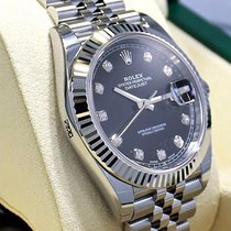 Rolex Datejust 126334 41mm Jubilee Black Diamond Dial 18k W...