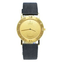 Corum Romvlas in Yellow Gold - on Black Satin Strap with...