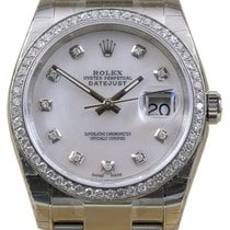 Rolex Datejust 116200 White Mother of Pearl Diamond 36mm...