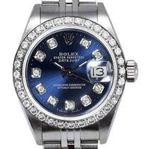 Rolex Women's Datejust Stainless Steel Custom Diamond...
