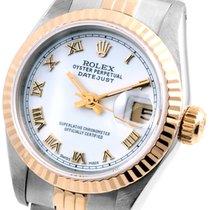 Rolex 18K/SS Ladies 26mm Datejust White Roman Dial 69173 Model