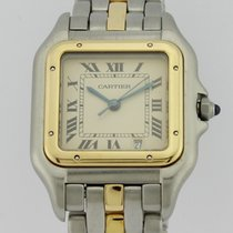 Cartier PANTHERE MIDSIZE GOLD AND STEEL QUARTZ LADIES 187949