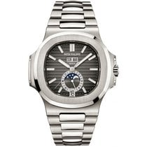 Patek Philippe Nautilus Stainless Steel Black Dial Watch