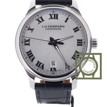 Chopard L.U.C 1937 Silver Dial 42mm Crocodile Strap NEW
