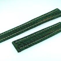 Breitling Band 18mm Croco Grün Green Verde Strap Für Faltschli...