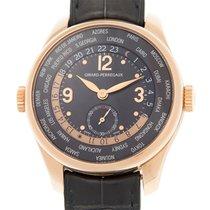 Girard Perregaux Ww.tc 18k Rose Gold Black Automatic 49865-52-...