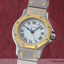 Cartier Lady Santos Ronde Damenuhr Gold / Stahl Automatik
