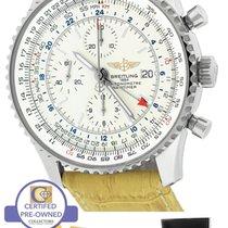 Breitling Navitimer World GMT Stainless Cream 46mm A24322...