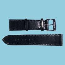 Nomos Shell Cordovan Lederband schwarz, Größe S, 20mm -NEU-