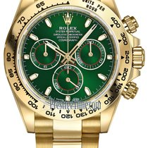롤렉스 (Rolex) Cosmograph Daytona Yellow Gold 116508 Green Index...