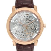Harry Winston Midnight Skeleton 18K Rose Gold Automatic Men's...