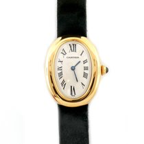 Cartier Ladies Cartier Baignoire 18k Yellow Gold Watch On A...