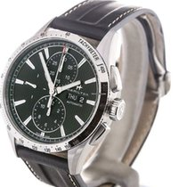 Hamilton BROADWAY AUTO CHRONO Steel-Black Leather Strap...