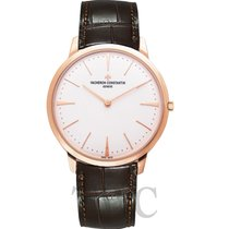 Vacheron Constantin Patrimony White 18k Pink Gold/Leather 40mm...