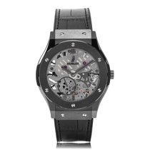Hublot Classic Fusion All-Black Ultra-Thin Manual Unisex Watch...