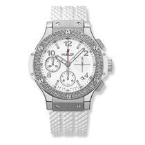 Hublot Big Bang Chronograph Steel White Diamond Set Bezel 41 mm